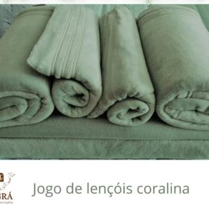 Jogo de lençóis Coralina