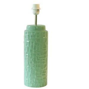 base de candeeiro verde água